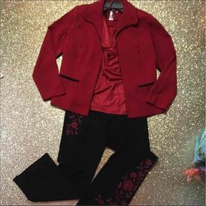 Red and black suit bundle